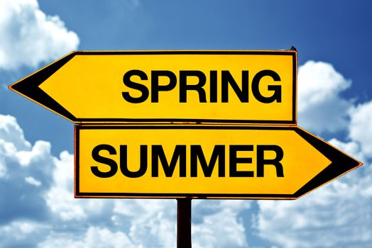 Spring or summer opposite signs