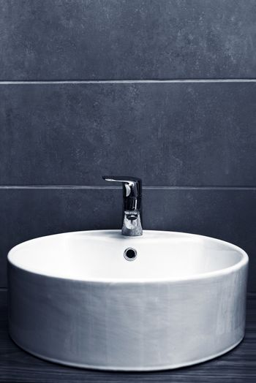 Elegant washbasin in bathroom