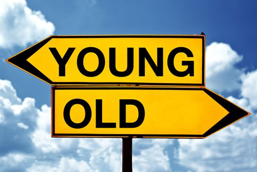 Young or old, opposite signs