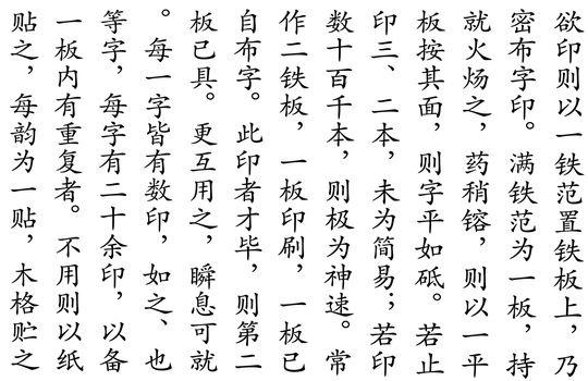 Chinese Script Pattern