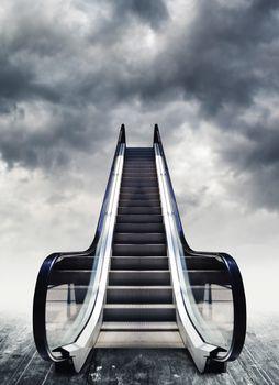 Escalators, conceptual image.