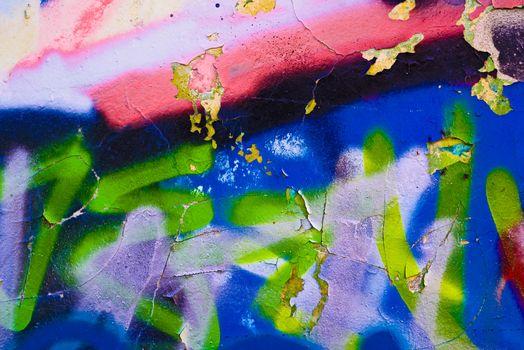 Graffiti wall as urban background