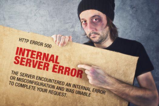 Http Error 500, Internal Server error page concept