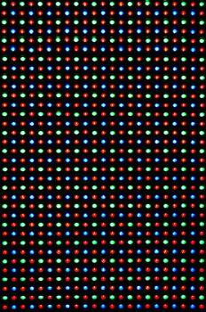 LED display close up