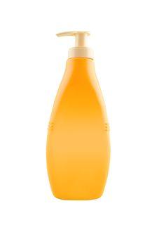 Nourishing body milk bottle with work path