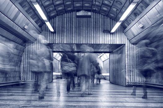 People at subway station