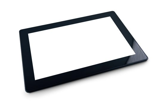 Generic Tablet PC on white background
