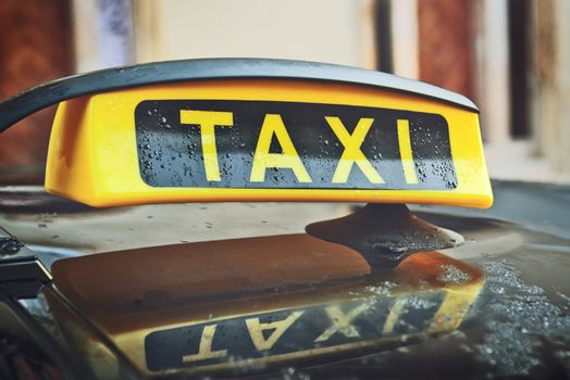 Taxi Cab Car Roof Sign