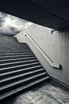Urban staircase in underground passage