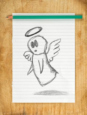 Angel Doodle Drawing
