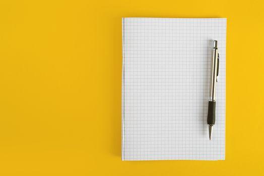 Ballpoint Pen and Notebook