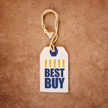 Vintage Price Tag Label with Best Buy Title