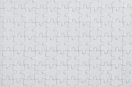 Completed blank jigsaw puzzle