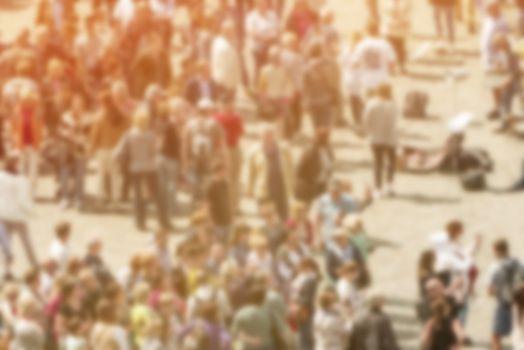 General Public Concept, Blur Crowd of People