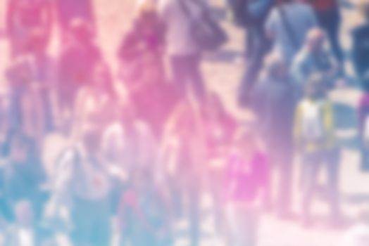 Society Concept, Blur Crowd of People