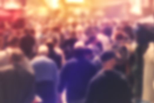 Blur Crowd of Peole Concept