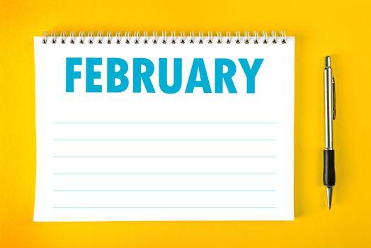 February Calendar Blank Page