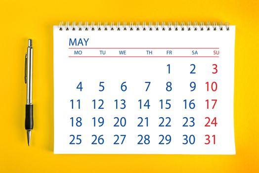 May Calendar Page