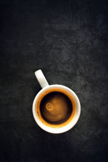 Top View of Coffee Cup