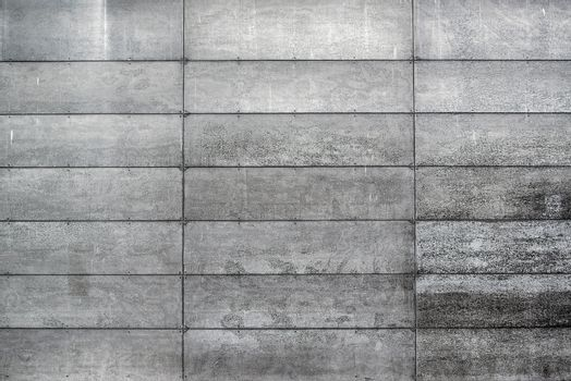 Concrete Wall with Rectangular Shaped Blocks
