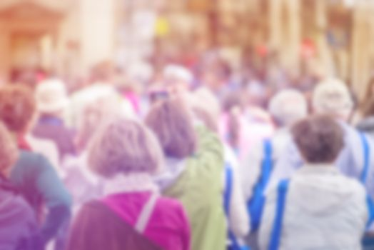 Blur Crowd of People, Citizenship Concept