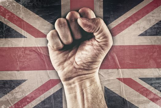 Great Britain riot fist