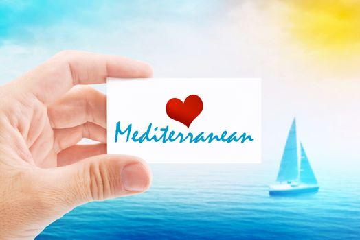 Summer Vacation on Mediterranean Beach