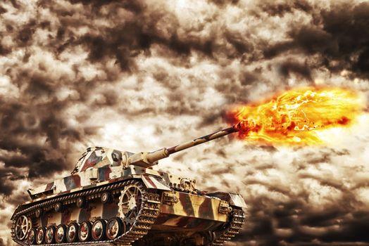 Military Tanki Firing