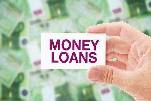 Money Loan in Euro Banknotes
