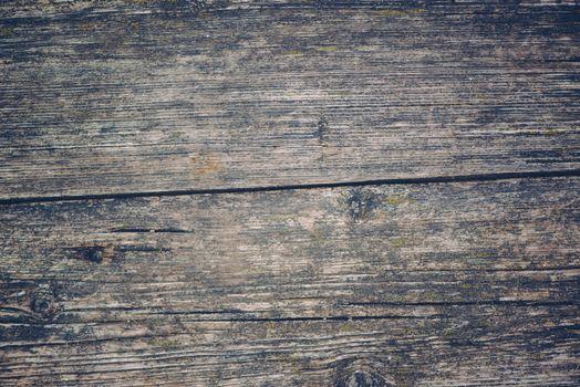 Obsolete old wooden plank