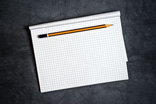 Pencil And Blank Notepad Page