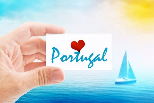 Summer Vacation on Portugal Beach
