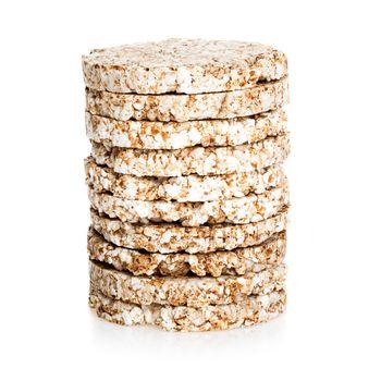 galette rice with few calories diet, low-calorie bread