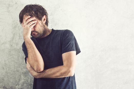 Depressed Man Portrait