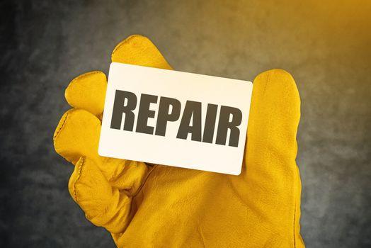 Repair on Business Card