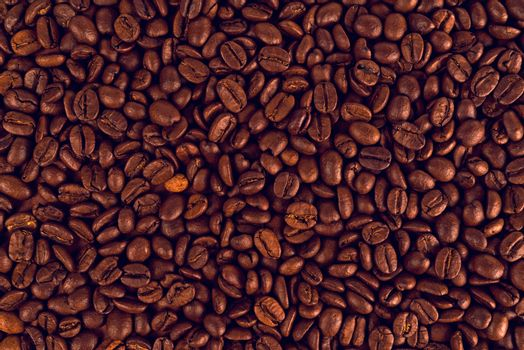 Roasted Coffee Beans as Textured Background