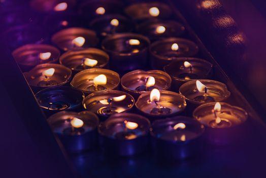 Romantic Spa Candles Burning