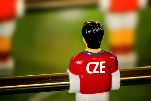 Czech National Jersey on Vintage Foosball, Table Soccer Game