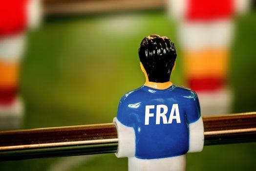 France National Jersey on Vintage Foosball, Table Soccer Game