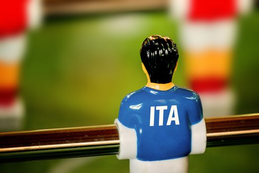 Italy National Jersey on Vintage Foosball, Table Soccer Game