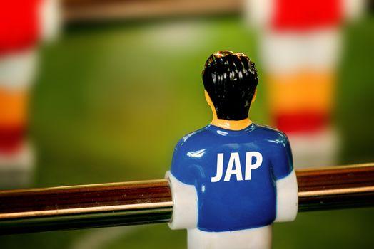 Japan National Jersey on Vintage Foosball, Table Soccer Game