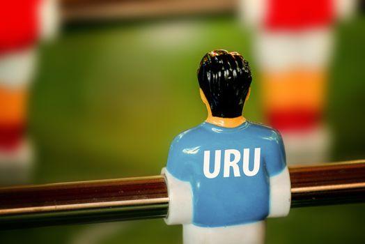 Uruguay National Jersey on Vintage Foosball, Table Soccer Game