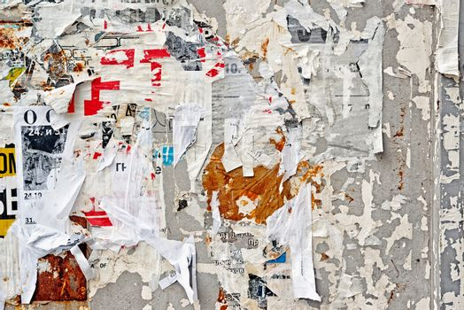 Torn Poster Wall Texture