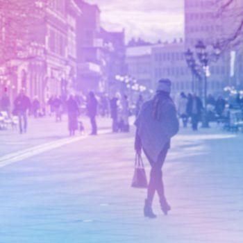 Urban City Street Blur Background