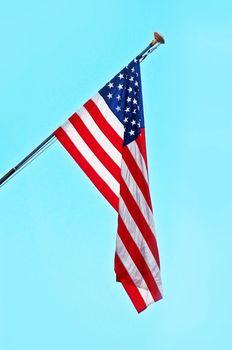 USA Flag on a Post