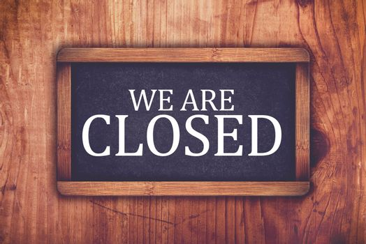 We are closed shop message board