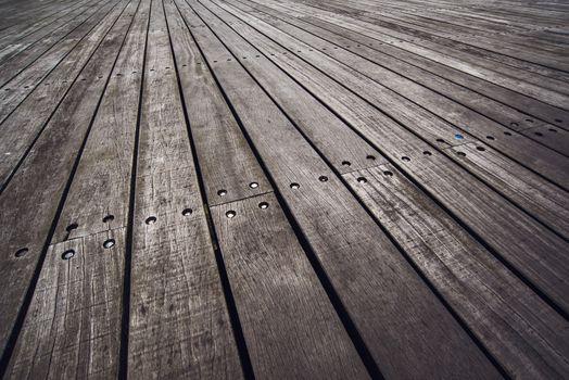 Rustic Wooden Floor Boardwalk in Perspective