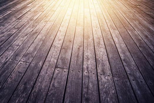 Rustic Wooden Floor Board in Perspective