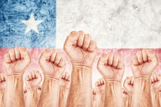 Chile Labour movement, workers union strike
