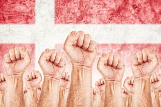 Denmark Labour movement, workers union strike